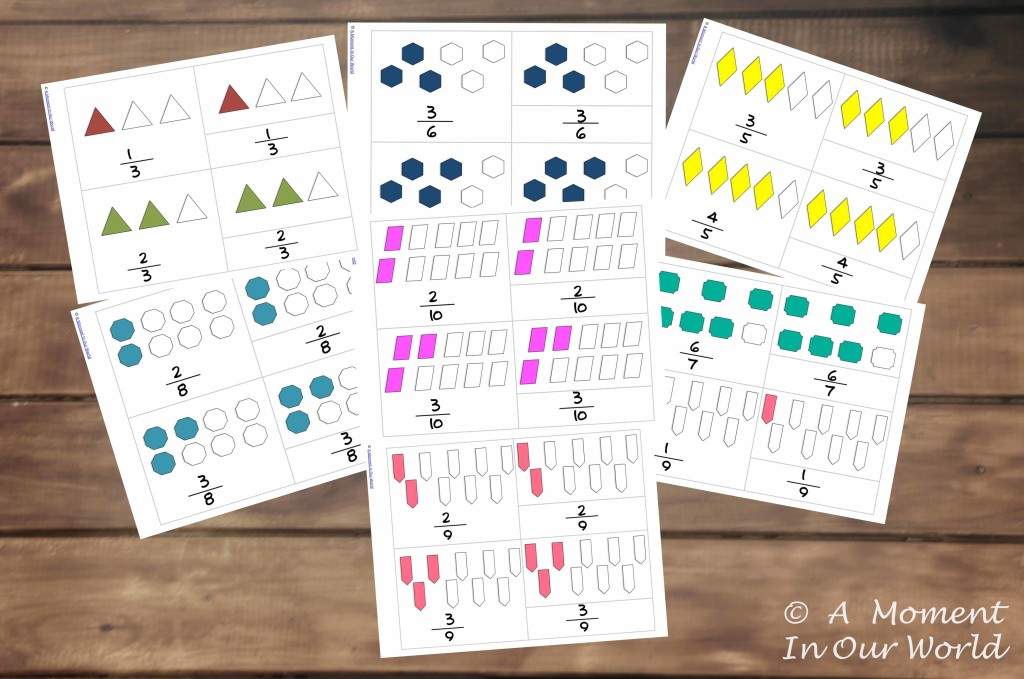 Fractions 3 Part Cards picture
