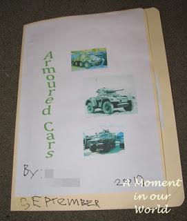 Armoured Car Lapbook