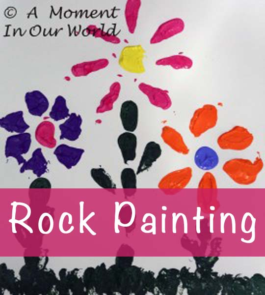 Rock Flower Painting