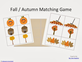 {FREE} Printable Fall / Autumn Matching Game