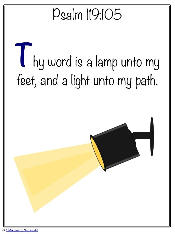 Monday Memory Verse Psalm 119:105