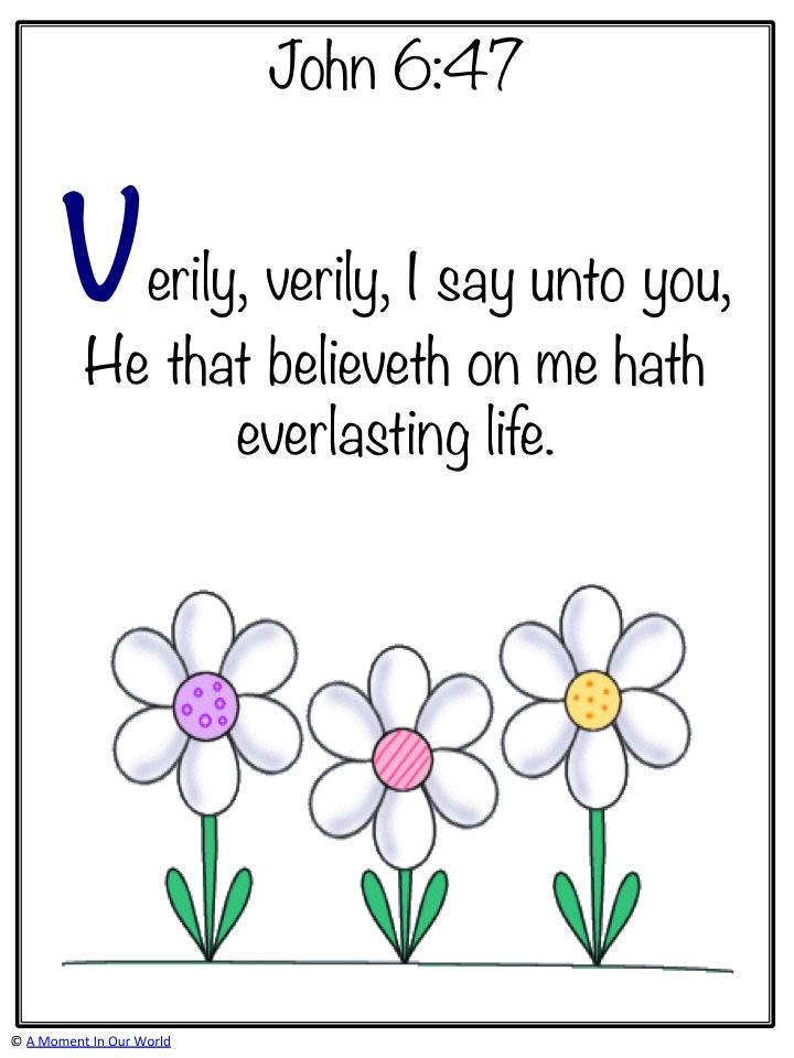 Monday Memory Verse John 6:47