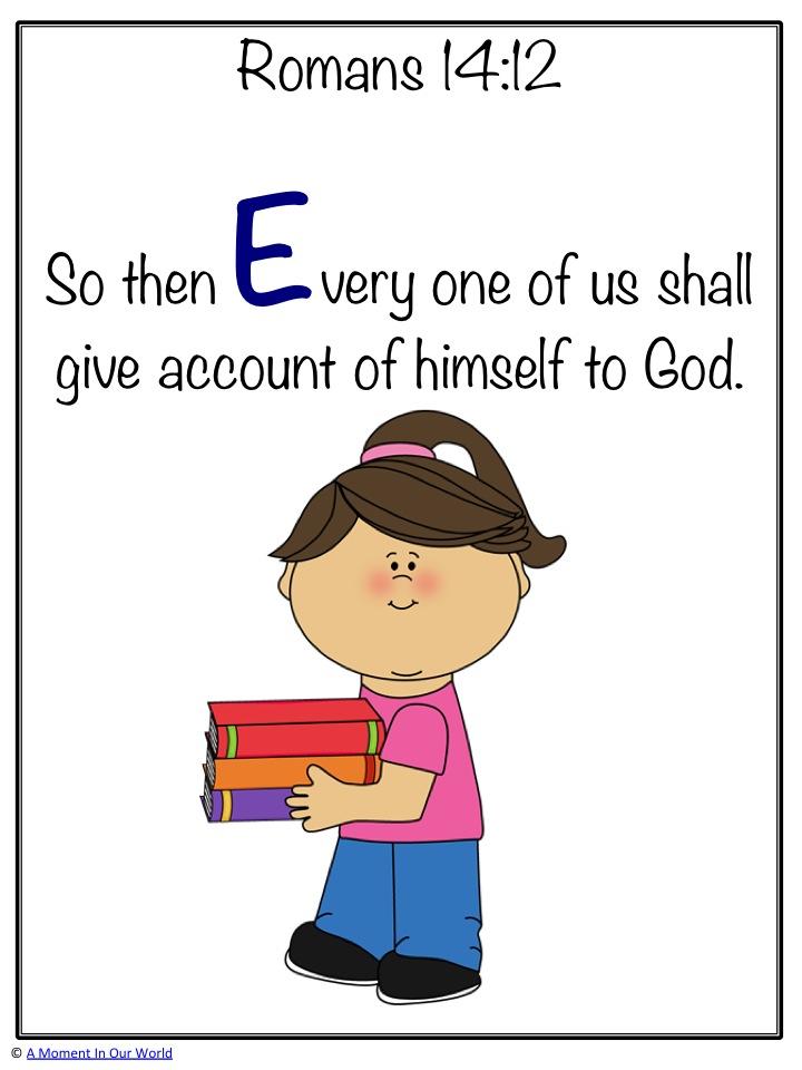 Monday Memory Verse Romans 14:12