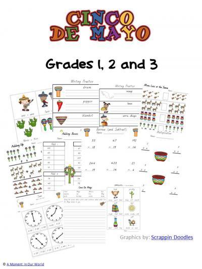 Cinco De Mayo - Grades 1,2,3 Pack