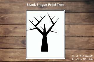 Finger Print Trees - Friday Freebie