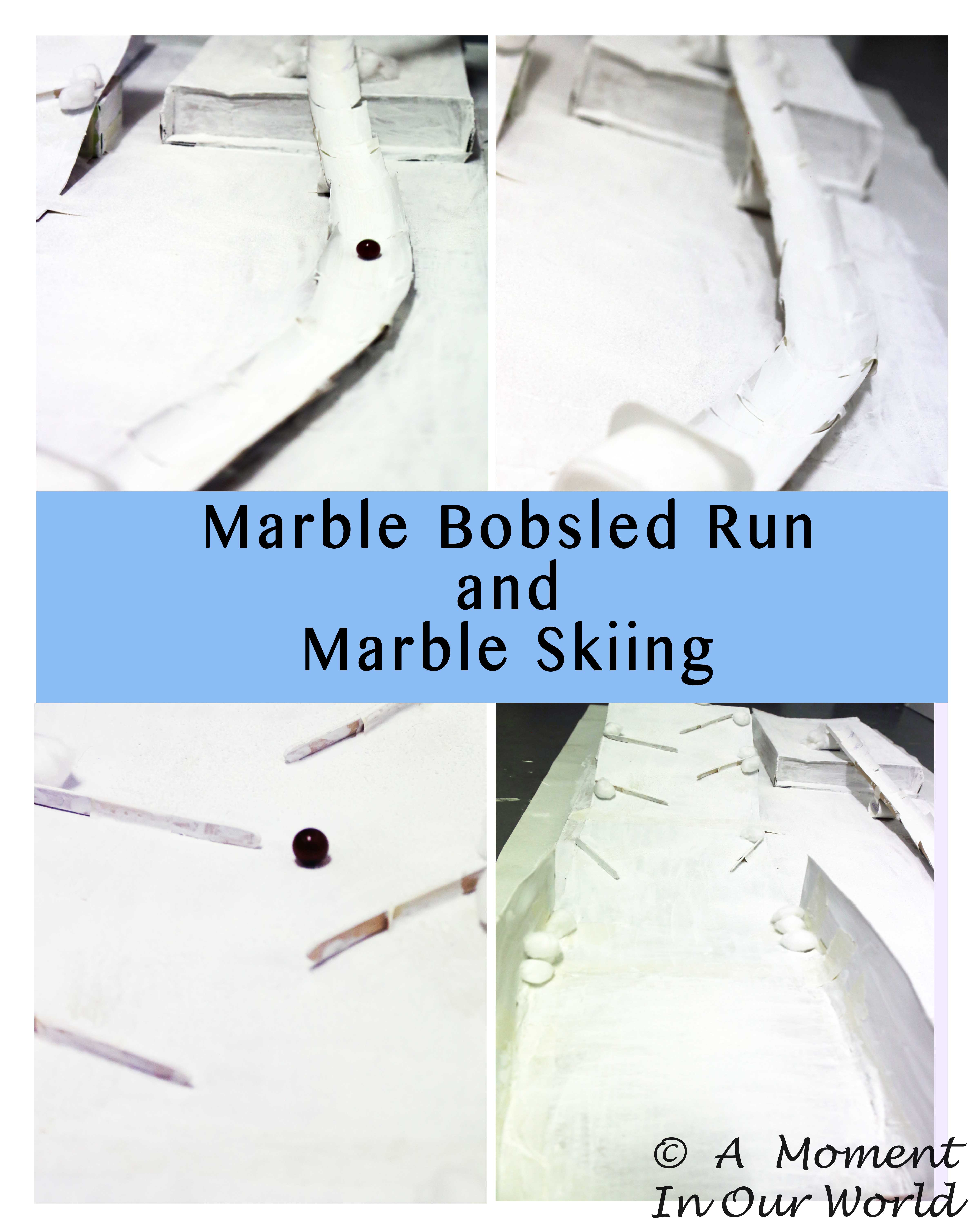 Marble Bobsled Run