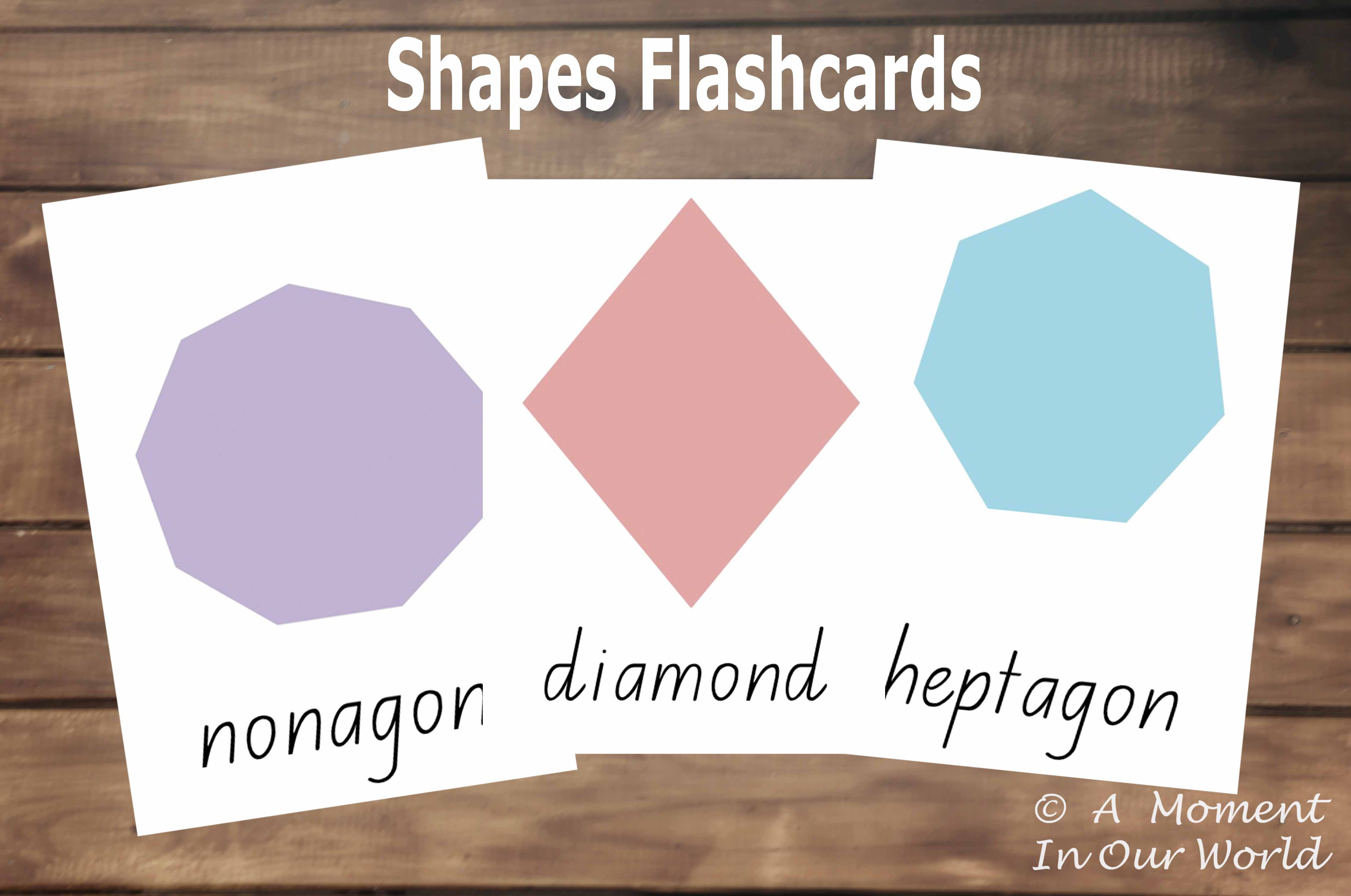 shapes flashcards picture