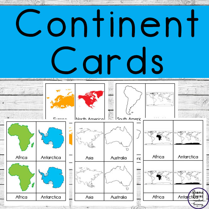With three different sets of cards includes, children will enjoy learning the continents of the world with these Continent Cards.