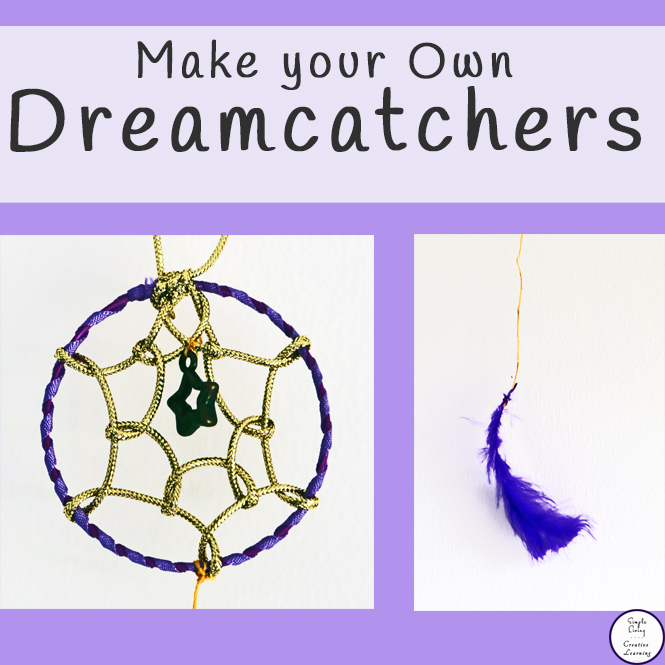 Make your own dreamcatcher simple living creative learning for How to tie a dreamcatcher web
