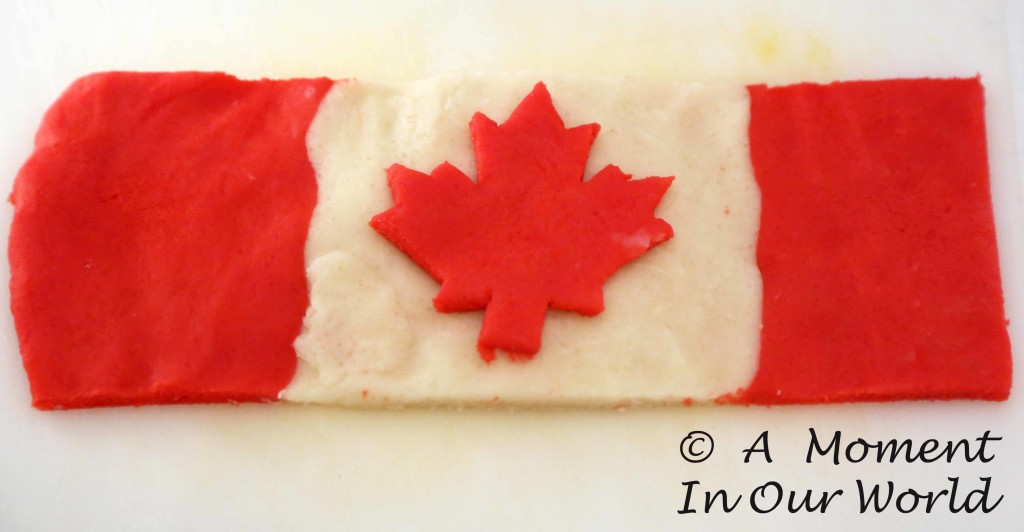 Playdough Canada Flag