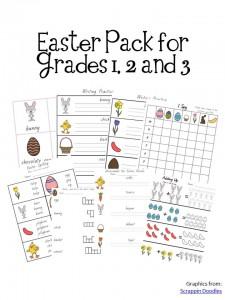 Easter Pack Grades 1 2 3d