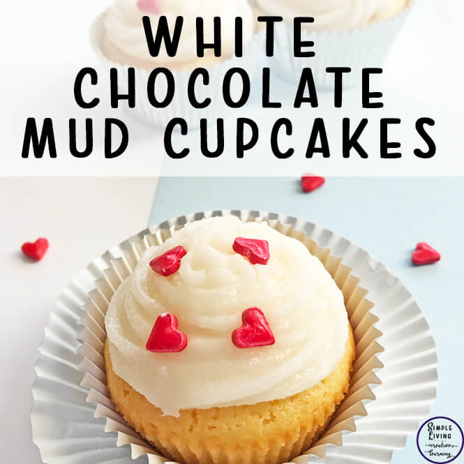 These White Chocolate Mud Cupcakes are so easy to make and taste so very devine. These delicious cupcakes are great for a variety of occasions.