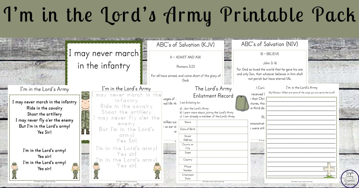 picture about Abc's of Salvation Printable referred to as Im in just the Lords Military, Sure Sir! - A Minute within our World wide