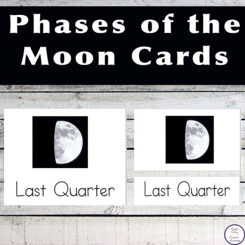 These cards are a great way for kids to learn the phases of the moon.