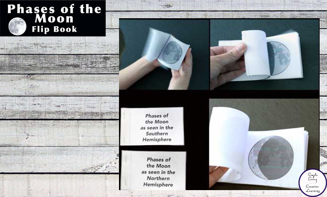This Phases of the Moon Flip Book is a great way for kids to learn the phases of the moon.