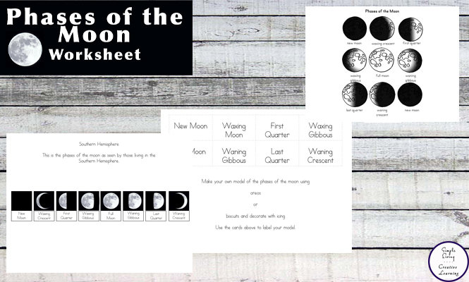 Free Printable Phases Of The Moon Simple Living