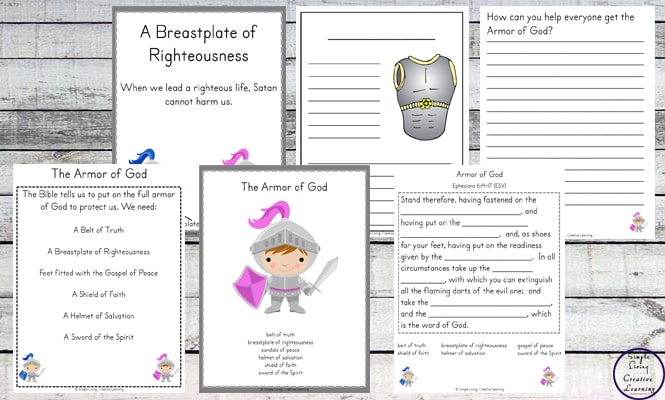 This Armor of God Printable Pack is a great way to learn about the different parts of armor that we should put on daily.