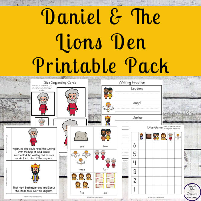 Daniel and the Lions Den Printables