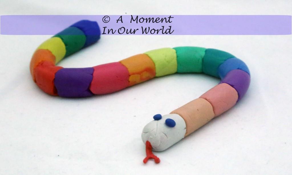 Modelling Clay Rainbow Snake