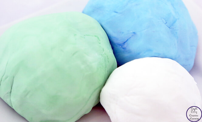This super smooth, soft play dough has only 2 ingredients and is guaranteed to keep kids entertained for hours!