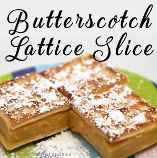 Butterscotch Lattice Slice
