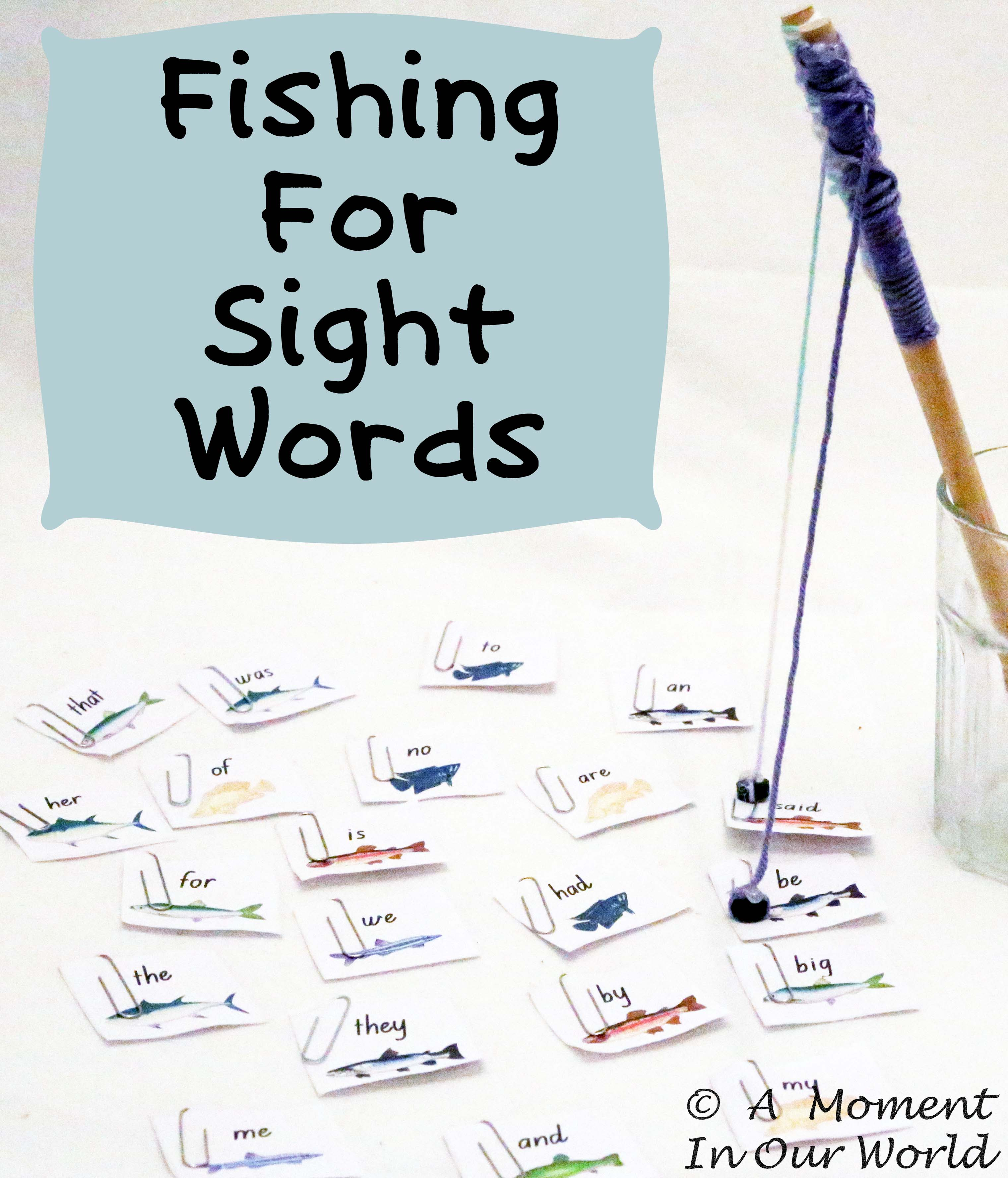 {FREE} Printable Fishing for Sight Words Game