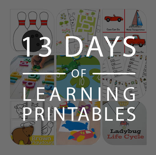13 Days of Printables