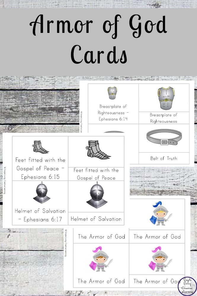 photograph about Armor of God Printable identify Free of charge Printable Armor of God Playing cards - Easy Residing. Inventive