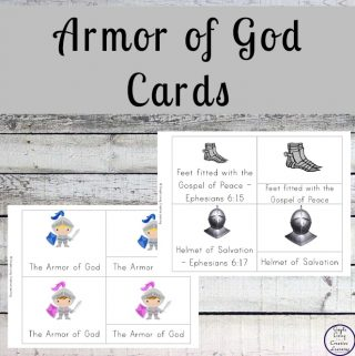 These Armor of God Cards are a great way to learn about the different parts of armor that we should put on daily.