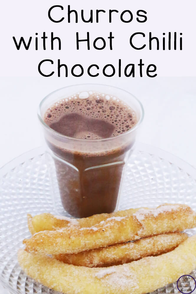 Dipping these churros in hot chilli chocolate was so much fun and so tasty!
