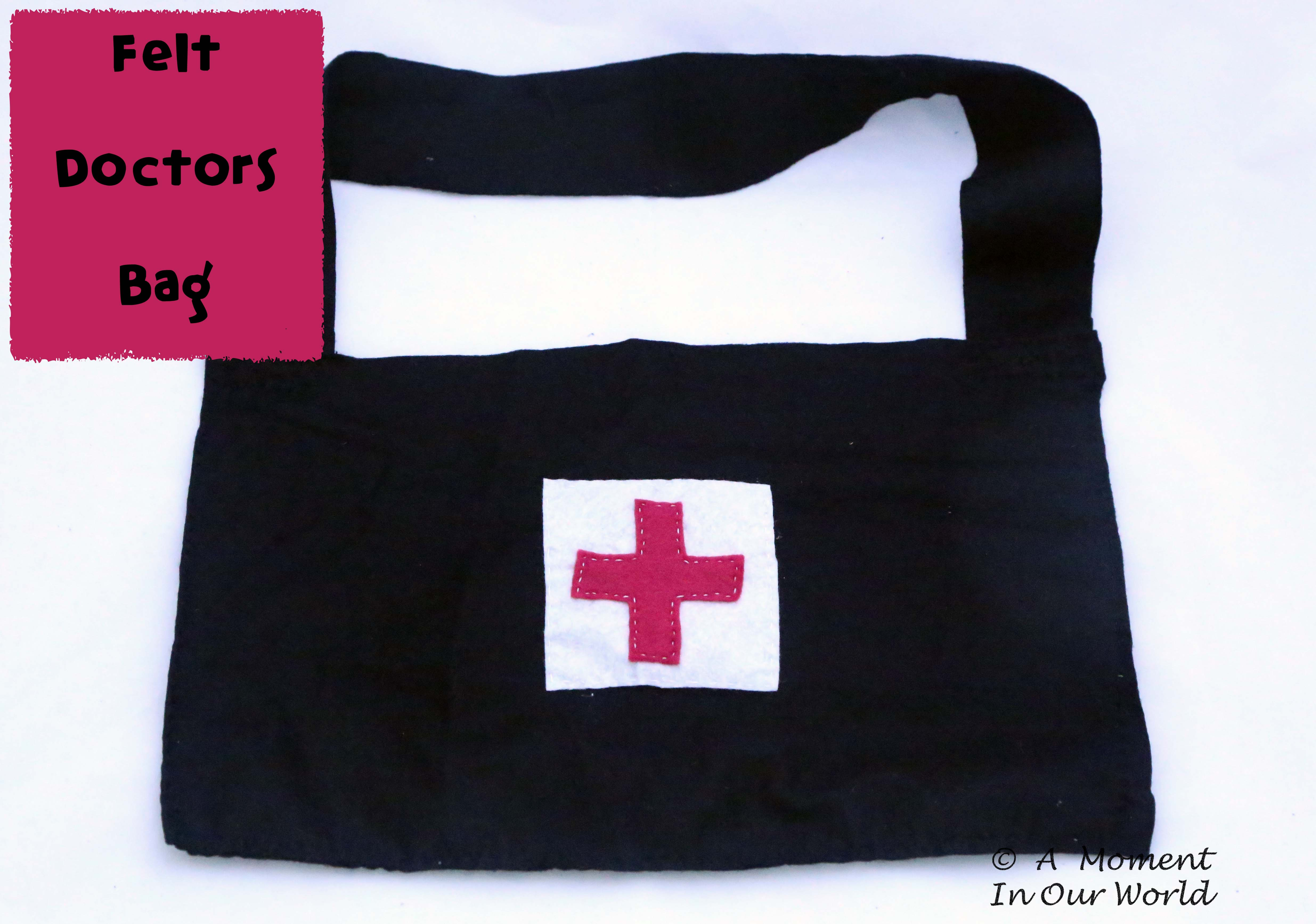 Have fun playing doctor's with this felt doctors bag.