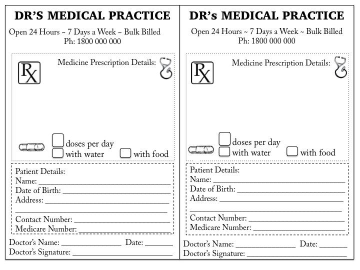 Dr Prescription Page
