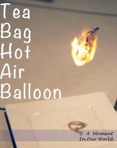 Tea Bag Hot Air Balloon a