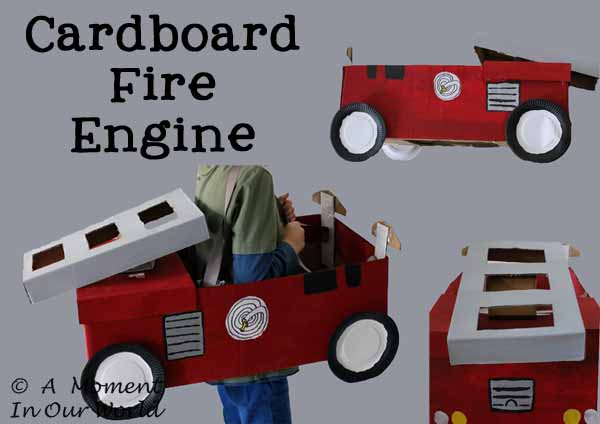 Cardboard Fire Engine