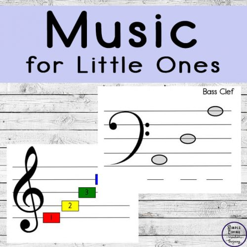 You little ones will enjoy learning the name of the keys on a piano and the names of notes on the treble and bass clef's.
