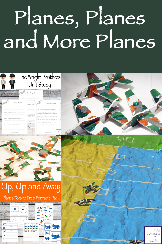 Some great airplane activities and printables for kids.
