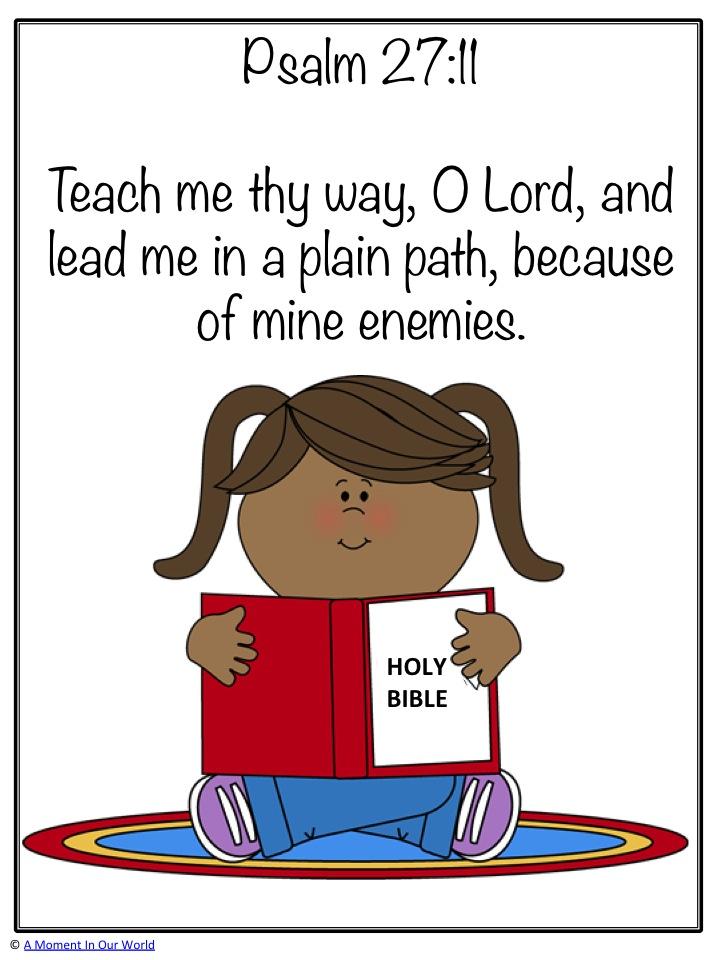 Monday Memory Verse: Psalm 27:11