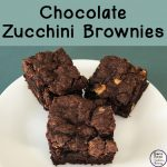 These chocolate zucchini brownies are delicious and moist and a wonderful way to hide vegetables for the ones who don't like them.