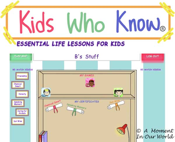 Kids Who Know Dashboard