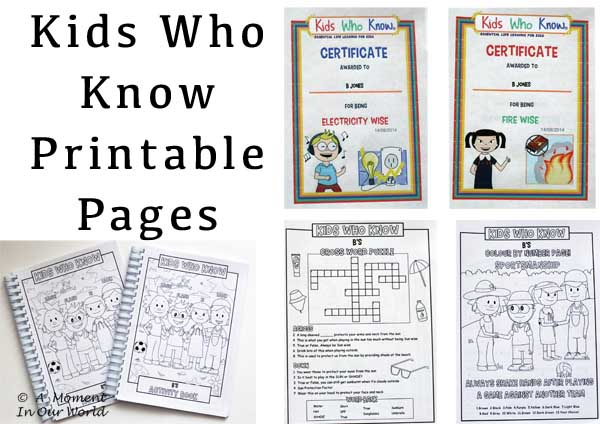 Kids Who Know Printable Pages