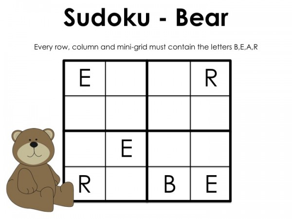 sudoku for kids printables