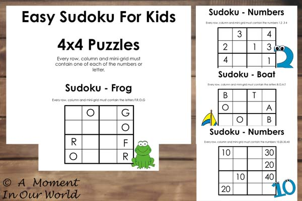 picture regarding Sudoku for Kids Printable called Totally free Printable Basic Sudoku For Young children - Easy Dwelling