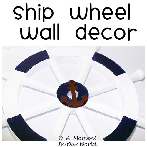 Ship Wheel Wall Decor
