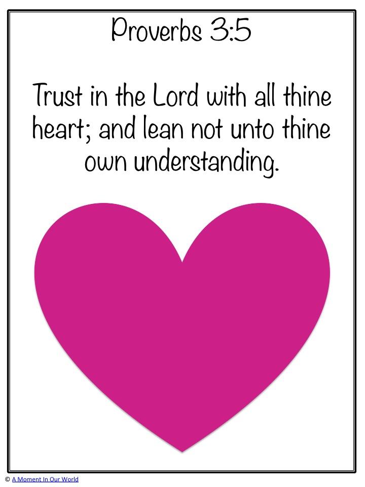 Monday Memory Verse: Proverbs 3:5