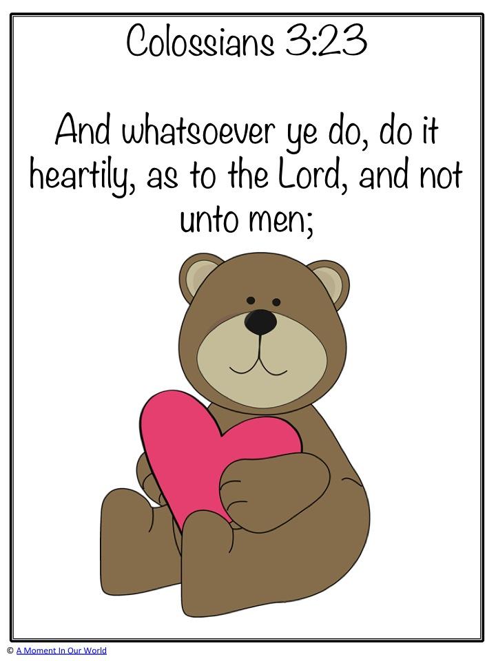 Monday Memory Verse: Colossians 3:23
