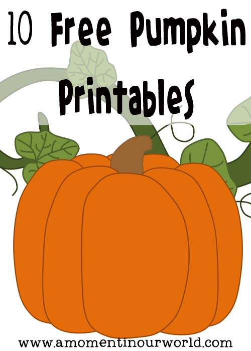 Do You Know Of Any Other Free Pumpkin Printables That Kids Enjoyed