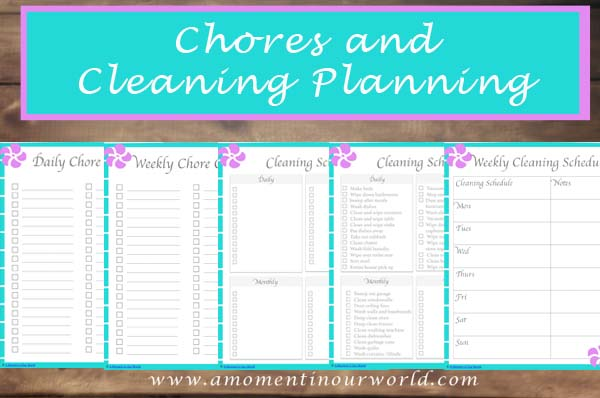 Chores and Cleaning Planning