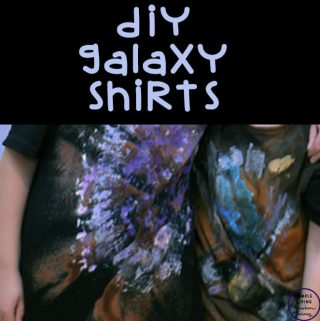 This easy DIY Galaxy Shirt is a fun and exciting hands-on activity that kids will love while completing a study on Space.
