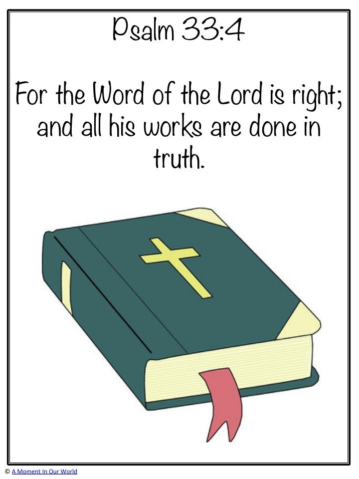 Monday Memory Verse: Psalm 33:4