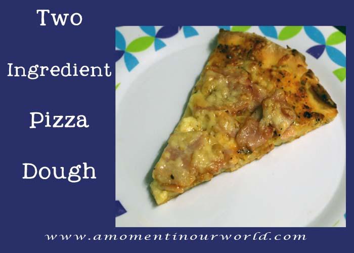 Easy 2 Ingredient Pizza Dough